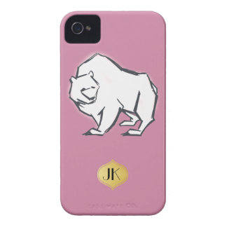 Modern, Simple & Beautiful Hand Drawn Bear Case-Mate iPhone 4 Case