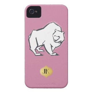Modern, Simple & Beautiful Hand Drawn Bear iPhone 4 Case-Mate Cases