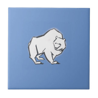 Modern, Simple & Beautiful Hand Drawn Bear Tile