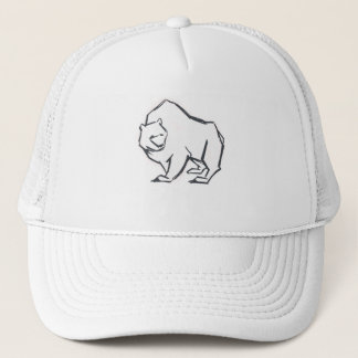 Modern, Simple & Beautiful Hand Drawn Bear Trucker Hat