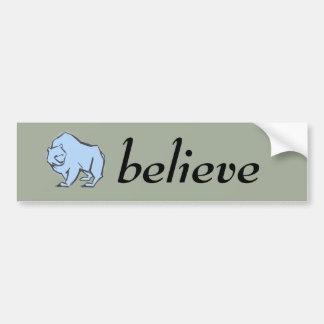 Modern, Simple & Beautiful Hand Drawn Blue Bear Bumper Sticker