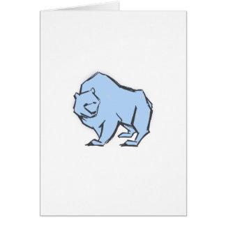 Modern, Simple & Beautiful Hand Drawn Blue Bear Card