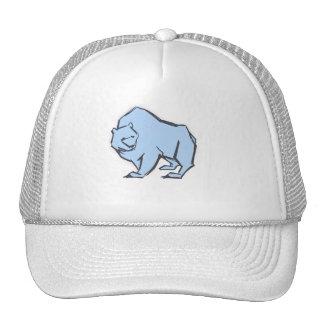 Modern, Simple & Beautiful Hand Drawn Blue Bear Trucker Hat