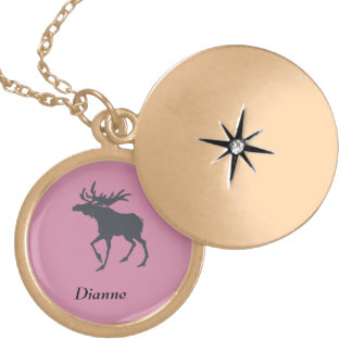 Modern, Simple & Beautiful Hand Drawn Deer Gold Plated Necklace