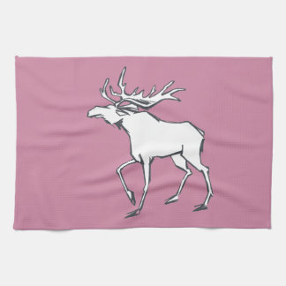 Modern, Simple & Beautiful Hand Drawn Deer Kitchen Towel