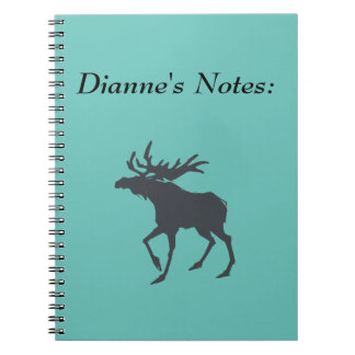 Modern, Simple & Beautiful Hand Drawn Deer Spiral Note Book