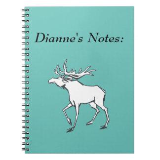 Modern, Simple & Beautiful Hand Drawn Deer Spiral Notebook