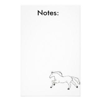 Modern, Simple & Beautiful Hand Drawn Horse Customized Stationery