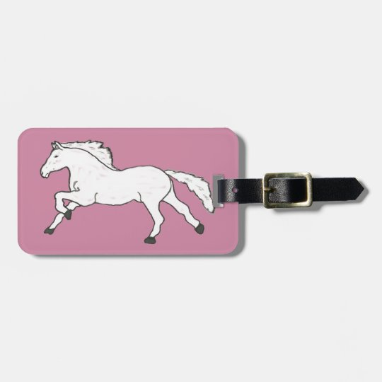 Modern, Simple & Beautiful Hand Drawn Horse Luggage Tag
