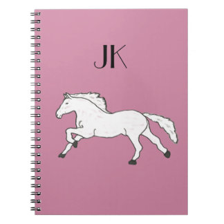 Modern, Simple & Beautiful Hand Drawn Horse Notebooks