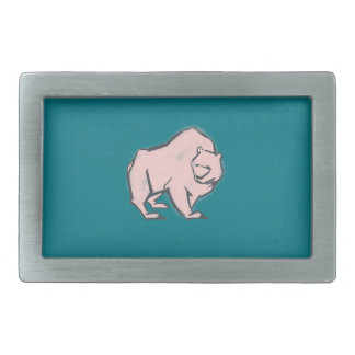 Modern, Simple & Beautiful Hand Drawn Pink Bear Belt Buckles