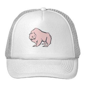 Modern, Simple & Beautiful Hand Drawn Pink Bear Trucker Hat