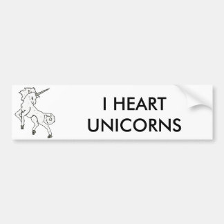 Modern, Simple & Beautiful Hand Drawn Unicorn Bumper Sticker