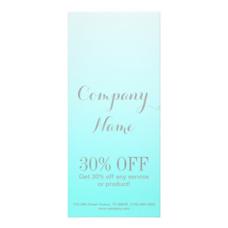 modern simple beauty salon Aqua blue Turquoise Rack Card