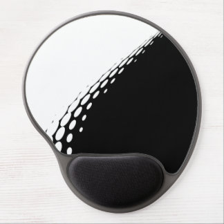 Modern simple black and white halftone pattern … gel mouse pad