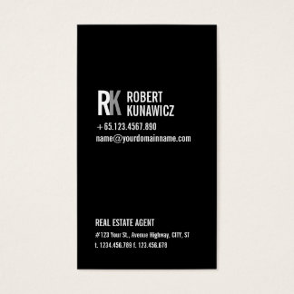 Modern Simple Black & White Card