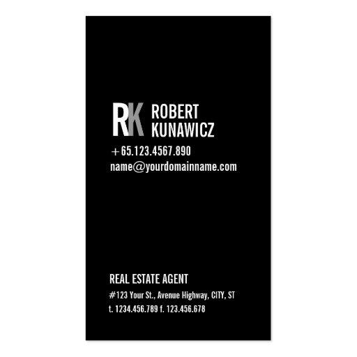 Modern Simple Black & White Card Business Card Template