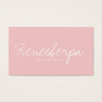 Modern simple bold rose pink gray contrast color business card