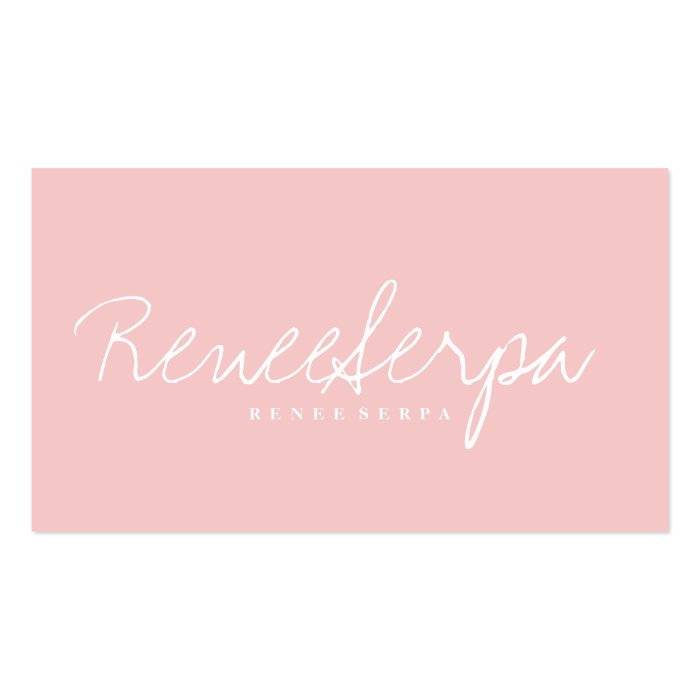 Modern Simple Bold Rose Pink Grey Contrast Colour Business
