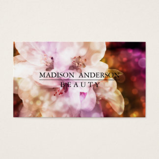 Modern Simple & Classic Beauty Pink Business Card