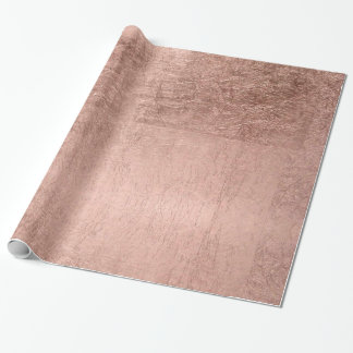 Modern simple faux rose gold