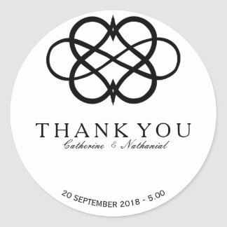 Modern Simple Infinity Heart Thank You Sticker