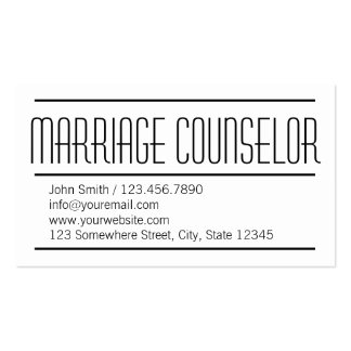 Modern Simple Marriage Counseling Business Card