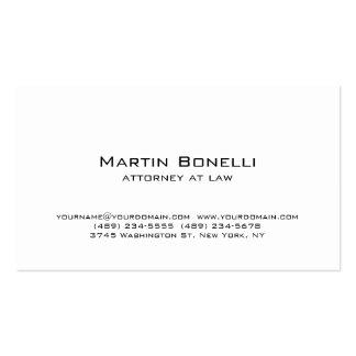 Modern Simple Minimalist White Business Card
