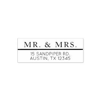 Modern Simple Mr & Mrs Classic Return Address Self-inking Stamp
