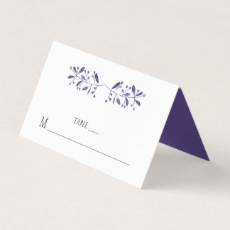 Modern Simple Ultra Violet Place Cards