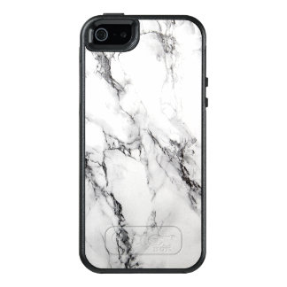 Modern Simple White Marble Stone OtterBox iPhone 5/5s/SE Case