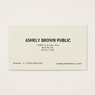 Modern Simple White Minimalist Business Card