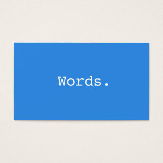 Modern simple writer publisher editor blue business card