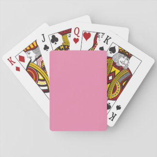 Modern Simply Pink Customizable Playing Cards