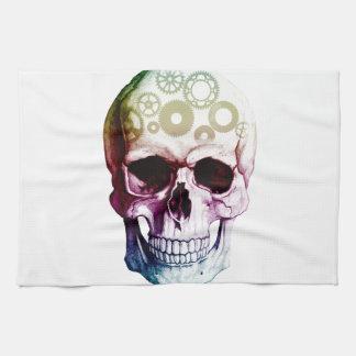 Modern Skull Tattoo Kitchen Towels