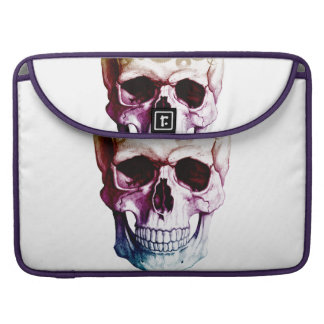 Modern Skull Tattoo MacBook Pro Sleeves
