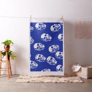 Modern skulls blue fabric