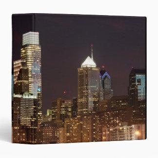 Modern skyscrapers of Philadelphia downtown Vinyl Binder