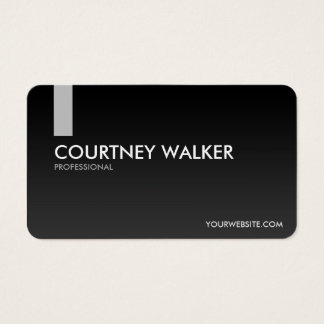 Modern, sleek black and silver business cards