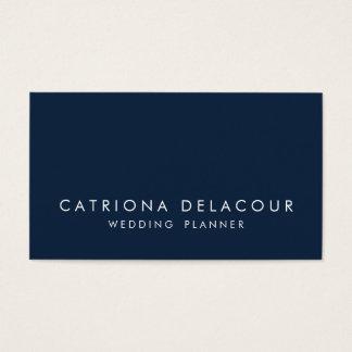 Modern Sleek Elegant Navy Blue Business Card