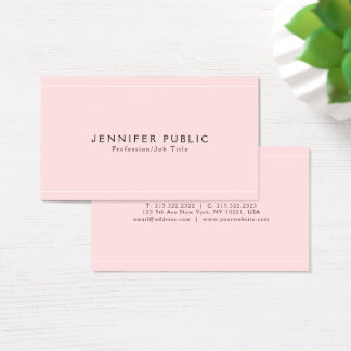 Modern Sleek Glamour Plain Luxury Professional Business Card