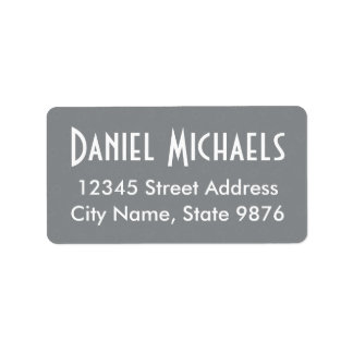 Modern Sleek Silver Custom Address Label