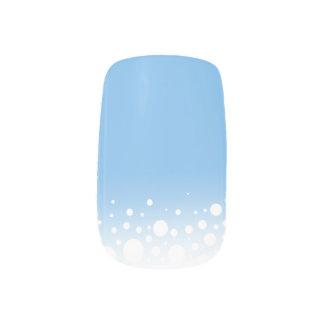 Modern Snow Dots Denim Blue Minx Nail Art