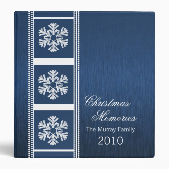 Modern Snowflakes Binder (1.5 inch), Royal Blue