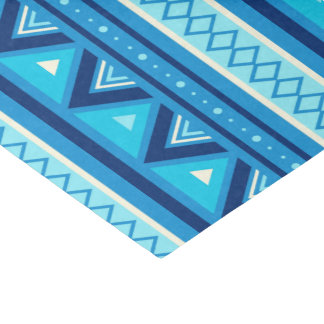 Modern Southwestern Geometric, Blue & Turquoise Tissue Paper
