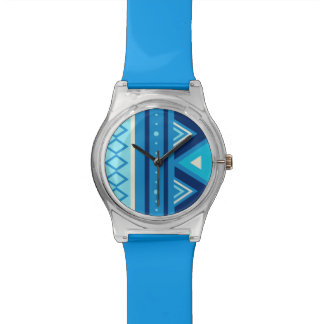 Modern Southwestern Geometric, Blue & Turquoise Watches
