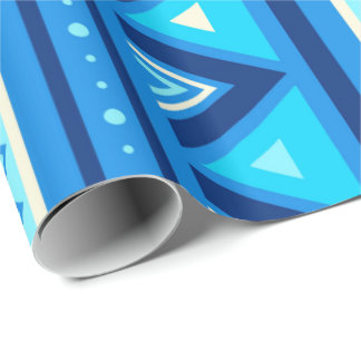 Modern Southwestern Geometric, Blue & Turquoise Wrapping Paper
