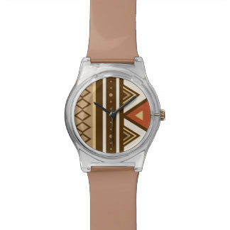 Modern Southwestern Geometric, Brown, Tan & Rust Wrist Watches