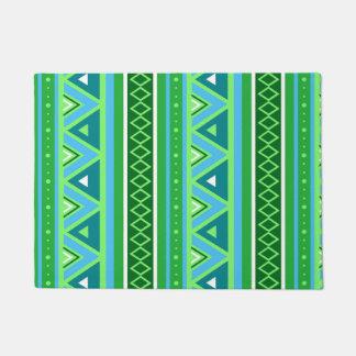 Modern Southwestern Geometric, Green and Aqua Doormat