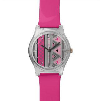 Modern Southwestern Geometric, Pink and Gray Watch